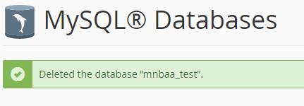 كيفية انشاء او حذف قاعده بيانات  (Cpanel) 5