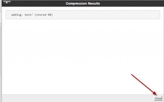 كيفية ضغط ملف او فك ضغطة  (Cpanel) 9