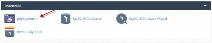 كيفية رفع قاعده بيانات جديدة  (Cpanel) 1