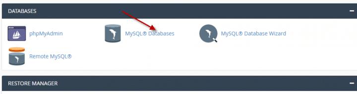 كيفية ربط قاعده بيانات باسم مستخدم  (Cpanel) 1