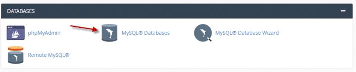 كيفية انشاء او حذف قاعده بيانات  (Cpanel) 1